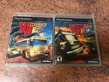Vigilante 8 1 & 2 Empty Replacement Cases.No Games. PS1 PS2