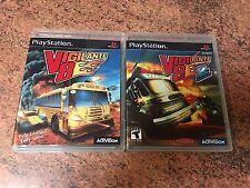 Vigilante 8 1 & 2 Empty Replacement Cases.No Games. PS1 PS2