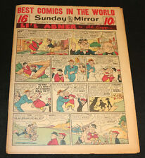 1951 Sunday Mirror Weekly Comic Section September 2nd (Vf) Superman Lil Abner