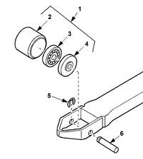 WSX20 WSX2035076002 Prime Mover Load Wheel Assy & Axle Replacement Kits x 2