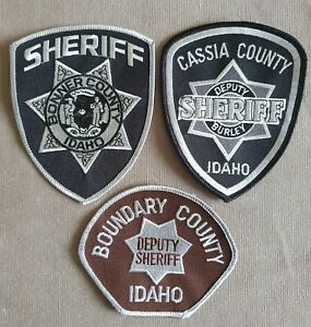 USA - 3 x Different Sheriff Patches - Idaho