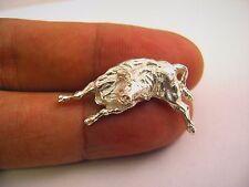 Nice Quality Pin: Raging Bull Great Design Silver Tone