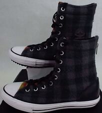 New Womens CONVERSE 11 CT Hi Rise Wool Winter Boots Plaid Shoes $90 549686C