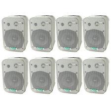 "2 PYLE  5.25"" 2-Way White In/Outdoor Waterproof Home Theater Speakers (8 Pack)"