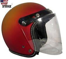 Flip-up Face Shield Fits 3 Snap Button Motor Helmet Visor Lens Color Clear