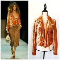 Louis Vuitton Marc Jacobs Era Runway 2004 Crushed Velvet Moto Jacket
