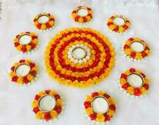 Handmade Floral Rangoli Diya,Diwali Decoration, Corporate Gift Set of 10