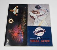 San Diego Padres Press Media Guide Lot 1981 & 1991