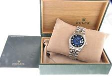 Rolex Datejust Gents Diamond Steel Automatic Watch Blue Dial with Rolex Box
