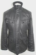 BEN SHERMAN Mens Black Cotton Carbon Coated Twill Jacket/Coat Size Small