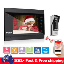 "WIFI 7"" IP Video Door Phone Doorbell Intercom Camera Monitor IR Night Wireless"