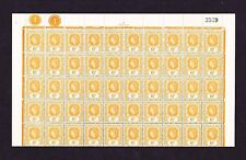 LEEWARD ISLANDS 1954 6c IN COMPLETE SHEET OF 100 SG 132 MNH.