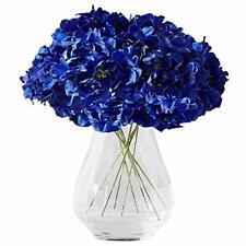 Kislohum Hydrangea Silk Flower Heads 10 Royal Blue Artificial Hydrangea Silk Flo