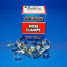 "Amgauge #4 Mini Hose Clamps Range 1/4"" - 5/8"" Stainless Steel Band - 10 pcs"