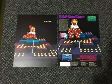 2 1984 UNIVERSALS DO RUN RUN VIDEO GAME FLYERS