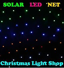 300 LED Solar Net 5mx1.3m MULTI Outdoor Christmas Tree Garden Lights MULTICOLOUR