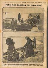 Armée française d'Orient Poilus Blessés Salonique Salonica Red Cross  WWI 1916