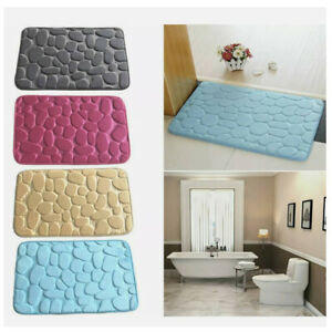 Flanell Fußmatten Kieselsteine Teppiche Badeteppich Saugfähige Rutschfeste Neu