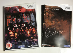Nintendo Wii Game - THE HOUSE OF THE DEAD 2 & 3 RETURN - Complete FREE Shipping