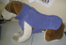 handknitted aran jumper for a large dog jumper measures from neck to tail 19""