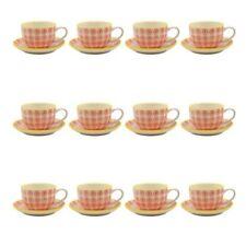12 Tasses et soucoupes de table en porcelaine