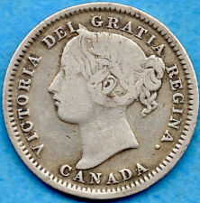 Canada 1899 Small '99' 10 Cents Ten Cent Silver Coin - VG