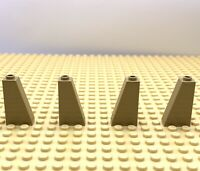 Lego Part 4653509 Brick Roof Tile 1x2x3 73' Dark Tan X4 Parts 4460 Sand Yellow