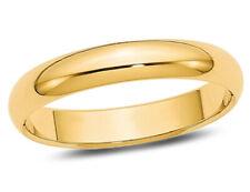Senhoras 4mm Aliança Em Ouro Amarelo 14K