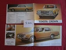 J.4002 / TOYOTA  Crown catalogue texte français 1977-78