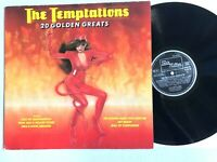 THE TEMPTATIONS 20 Golden Greats / 1980 Motown Soul Compilation Vinyl LP  VG+/G+