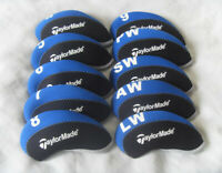10x Golf Protective Iron Covers for Taylormade Club Headcovers Blue&Black 4-LW