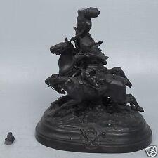 Old Russian Cast Iron Kasli Foundry E Lanceray Cossack Horseman Sculpture - VR