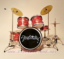 Mini Drum Set METALLICA Batteria gadget guitar memorabilia MINIATURE COLLEZIONE