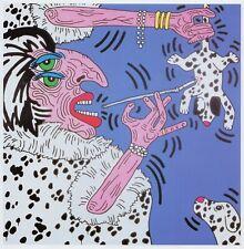 Cruella de Ville Keith Haring Pop Art print in 11 x 14 mount ready to frame