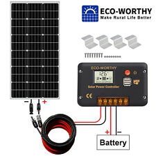 Solar Set 12V 100 W 200 Watt Mono Solarmodul Laderegler 20A Für Wohnmobil Boot