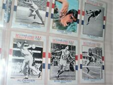 1991 COMPLETE SET OF 90 USA OLYMPIC HALL OF FAME COLLECTOR CARDS