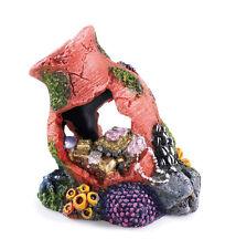 Treasure Pot on Coral Bed Aquarium Ornament Fish Tank Decoration
