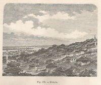 A1745 Sistova - Panorama - Xilografia - Stampa Antica del 1895 - Engraving