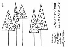 Woodware Clear Singles Stamp Christmas 2017 - Leggy Trees JGS534