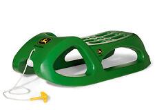 Rolly Toys Kinder Schlitten John Deere mit Stahlschienen + Zugschnur, Kunststoff