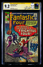 FANTASTIC FOUR #36 (1965) CGC 9.2 SS Near Mint Minus signed by Writer STAN LEE!!