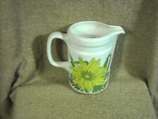 "Wedgwood ""Riviera"" Oven to Table 5 1/2"" Pitcher Bright Yellow Flowers"