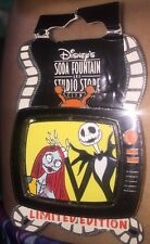 Disney Pin DSF Soda Fountain Nightmare Jack And Sally Tv Spinner Television Rare