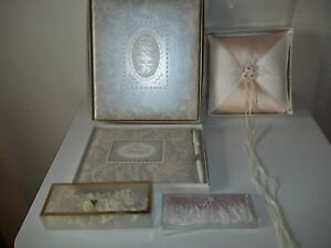 Wedding Lot. Ring Pillow, Guest Book, Photo Album, Garters L@@k