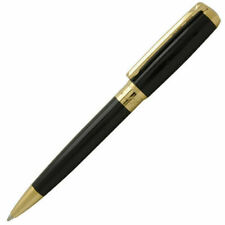 S.T. Dupont D Line Ball Point Pen, Black Lacquer & Gold Accents, 417574, NIB