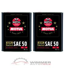 2x 2 Liter MOTUL SAE 50 Classic Motorenöl Oldtimer Öl Einbereichsöl mineralisch