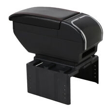 Universal Car Armrest Box Dual layer Center Console Storage Box With Cup Holder