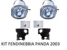 KIT FANALE FARI FENDINEBBIA CON CORNICE GRIGLIA E LAMPADE FIAT PANDA 169 2003->