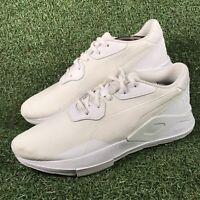Puma Shoku Non-Knit Bullet Train Ignite All White Trainers Size UK 10 EU 44.5