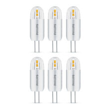 6 x Philips LED 1.2W - 10W G4 Capsule Light Bulb A++ 120lm 12v Warm White 2700K